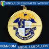 Le medaglie di sport del metallo personalizzate promozione con personalizzano il nastro
