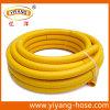 Gelber PVC-flexibler glatter Oberflächensaugschlauch