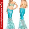 Сирены моря женщин Costume Mermaid сексуальной металлический для платья партии Halloween