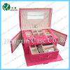 Подгонянная профессионалом розовая коробка ювелирных изделий