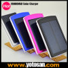10000mAh Emergency Portable Dual USB Backup External Solar Panel Power 은행 Charger