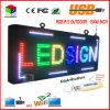 P13 Totalmente ao ar livre 15''x 40 Full Color Programmable LED Sign Text Scrolling Display da placa de mensagens para a janela