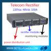 sistema Telecom N+1 LVD do retificador de 220VAC 48VDC