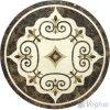 Het ronde Waterjet Marmeren Medaillon van het Mozaïek