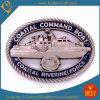 Monedas costeras huecos del metal del recuerdo de la fuerza de la aduana 3D Rivering (LN-080)
