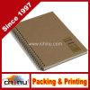 Cuaderno gemelo reciclado del alambre, Tan (520066)