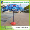 Personalizado impermeable impermeable Beach Umbrella con base
