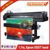 Impresora ancha al aire libre vendedora caliente del formato de Funsunjet Fs-1700k el 1.7m con una pista Dx5 para la impresión de la etiqueta engomada del vinilo