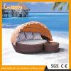 Кровать нового ротанга мебели отдыха конструкции 2016 водоустойчивого напольного лежа