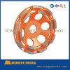 4  колеса чашки двойных диаманта рядка меля для бетона и камней