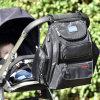 Polyester Black Mummy Sac à dos à la mode pour bébé avec paquet de changement