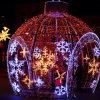 Grande lumière de motif de bille de décoration carrée de Noël