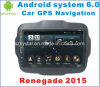 Android автомобиль GPS системы 6.0 на ренегат 2015 с навигацией автомобиля