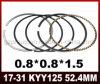 Parti del motociclo di alta qualità dell'anello di stantuffo Kyy125