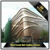 Revestimiento de aluminio estético decorativo de la pared del edificio moderno para la fachada