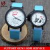 Vs-592 vendent la montre en gros d'élève de couples de personnalité de montre de couples de courroie en cuir pour des garçons et des filles