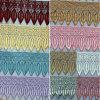 Neue Breiten-Aktien-Weide des Entwurfs-9cm verlässt Stickerei-Zutat-Polyester-Spitze für Kleid-Ordnungs-Zusatzgerät u. Hauptgewebe u. Matratze u. Vorhang