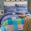 Jogo 100% do fundamento da alta qualidade do algodão de matéria têxtil para o fundamento da tampa do Duvet do Comforter do repouso/hotel ajustado (estilo euramerican azul)