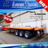 Reboque do leito 40FT do recipiente de CIQ 3-Axle Semi para Djibouti