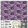Tissu tissé géométrique M9437 de lacet de chaise