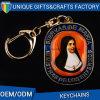 Aleación Keychain Keychain impreso santo del cinc para el recuerdo