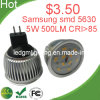 Luz del Punto de 5W Samsung SMD 5630 MR16 LED (GM-MR16-5W-SS)