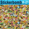 PVC di Car Vinyl Sticker 1.52X30m dei graffiti di Bomb Sticker dell'automobile