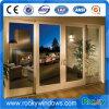 Kundenspezifische Entwurf kombinierte Flügelfenster-Glasaluminiumtür und Fenster