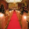 Tapete vermelho do casamento do poliéster não tecido