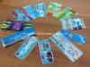 Étiquette de rétrécissement de PVC ou d'animal familier pour des bouteilles de jus
