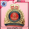 Pin dorato di rilievo della polizia di disegno 3D
