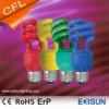 Medias lámparas ahorros de energía espirales coloridas de la luz 20W 26W E27 de CFL para la decoración