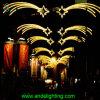 Luz de Natal ao ar livre da estrela do diodo emissor de luz da decoração da rua