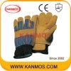 Handschoenen van het Werk van de Winter van de Bedrijfsveiligheid van het Leer van de koe de Gespleten Warme (11303)