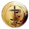 medaglia Polished del ricordo dell'università dell'India Don Bosco della moneta della lega della mano placcata oro 24k