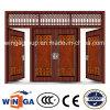 Porte en acier de garantie extérieure en métal de tailles importantes de 4 Doorleaf (W-SD-05)