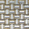 신선한 색깔 황금 유리제 예술 모자이크 Mosaico (VMW3303)