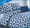 現代青い点デザインは綿の羽毛布団カバー寝具を印刷した