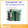PCM della batteria di 10s 37V, BMS 15A con l'interruttore elettrico