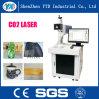 máquina de la marca del laser del CO2 10W para el cuero, paño, madera