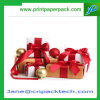 Rectángulo de regalo de encargo de empaquetado de papel de lujo de la cinta de los rectángulos