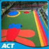 Césped artificial de la hierba del jardín de la infancia colorido para el jardín (L40)