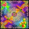 Красивейший шарф напечатанный цифров Silk (F13-0063)