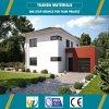 Buena casa bien diseñada aislada de la casa prefabricada de la azotea plana de las propiedades inmobiliarias