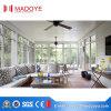 Sunroom de cristal impermeable para la casa verde