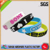 Costom all'ingrosso Silicone Bracelets con Embossed Print (TH-002)
