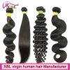 Extensão crua do cabelo do Virgin do mercado do cabelo de Guangzhou