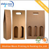 Kundenspezifisches Paper Packaging 1/2/3 Bottle Wine Box mit Window (QYCI15109)