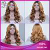 Ombre 1b#/27# Loose Curl 브라질 Virgin Hair Silk Top Wig