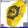 O relógio Montre Femme Relogio Feminino Relojes do vestido das senhoras das mulheres dos homens do pulso de disparo das horas da faixa do silicone do relógio de quartzo Yxl-895 Quartzo-Presta atenção